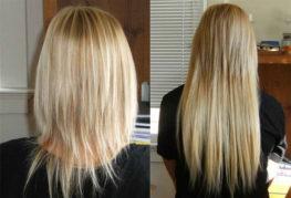 Нарощенные волосы: до и после
