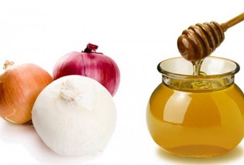 Мёд и лук для волос