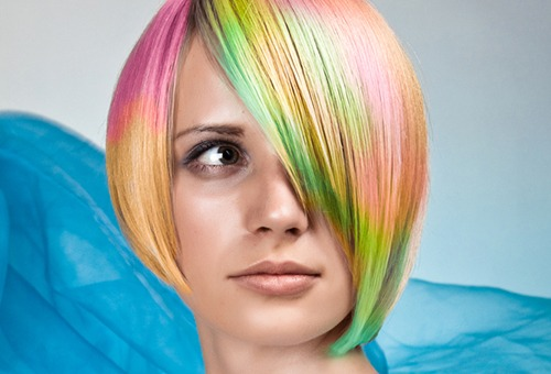 как красить волосы пастелью
