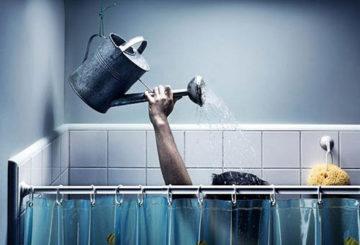 Мытье головы при отключении горячей воды