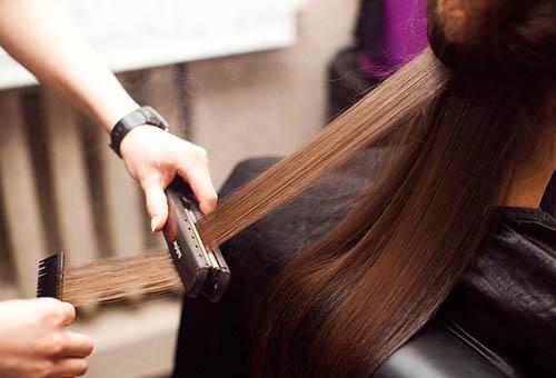 Процесс кератинового восстановления волос