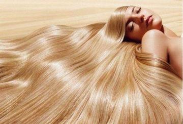 Роскошные волосы у блондинки