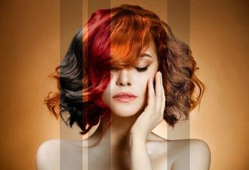 Варианты окраски волос