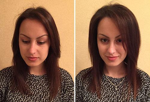 Волосы после создания прикорневого объема