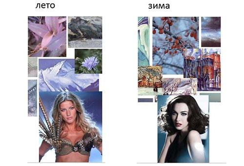 "Цветотипы внешности - ""Лето"" и ""Зима"""