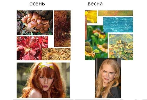 """Цветотипы внешности - """"Осень""""и """"Весна"""""""