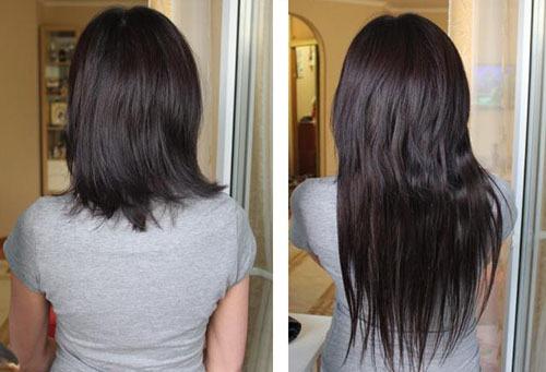 Накладные волосы на клипсах: до и после
