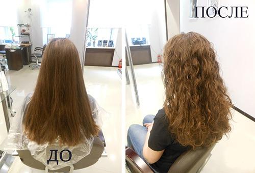 Волосы до и после биохимии