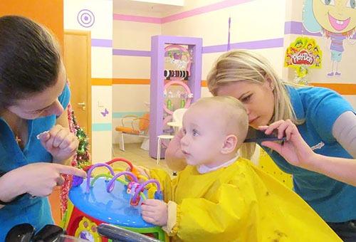 Стрижка ребенка в салоне