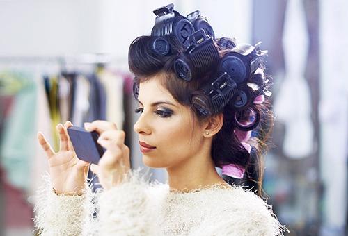 Укладка волос на бигуди