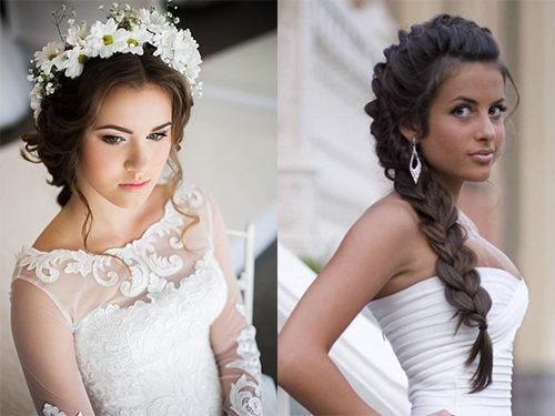Греческие косы в свадебной прическе