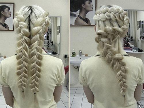 Объемные французские косы