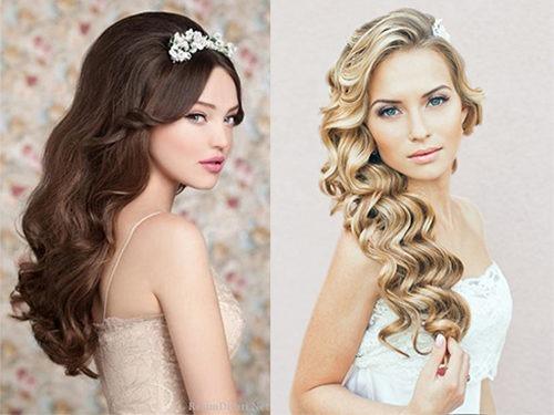 Образы невест с прическами на длинные волосы своими руками