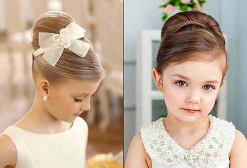 Девочки со взрослыми прическами для свадьбы