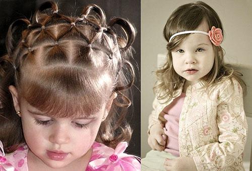 Прически на волосы средней длины для девочек