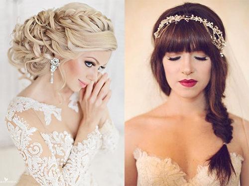Свадебные прически на длинный волос своими руками
