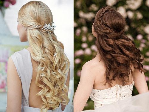 Свадебные прически на длинные волосы в греческом стиле