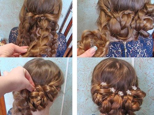 Создание прически из кос