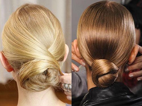 Варианты укладки волос - пучок