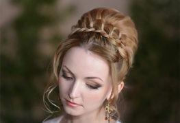 Прическа пучок для длинных волос