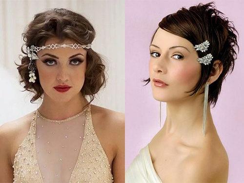 Варианты укладки коротких волос своими руками для невест