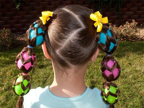 Веселые разноцветные косички