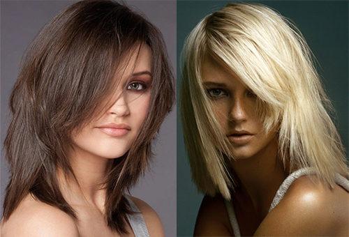 Стрижка лесенка на средних волосах