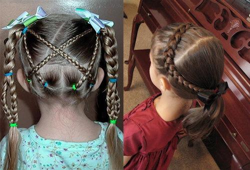 Косы различного плетения для девочек 3-5 лет