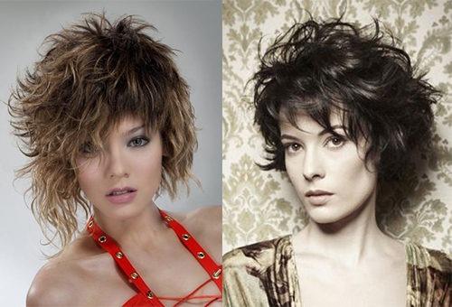 Стрижка лесенка на волнистых волосах