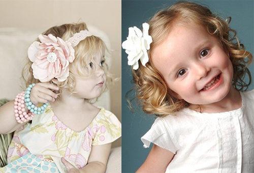 Интересные прически для трехлетних девочек