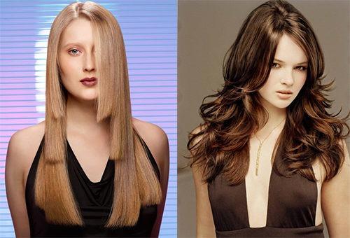 Варианты укладки стрижки лесенка на длинных волосах
