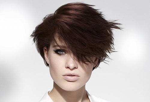 Небрежная укладка на короткие волосы