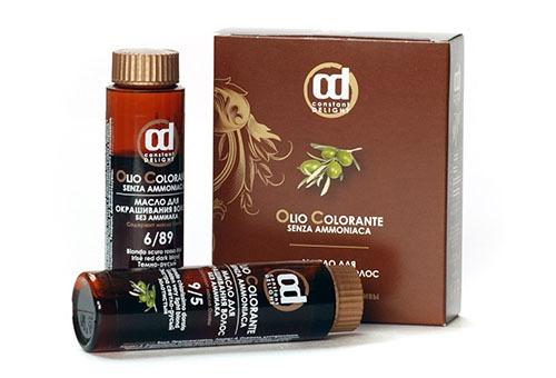 Масляное средство для окрашивания волос
