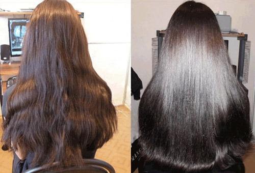 Волосы до и после иллюминирования