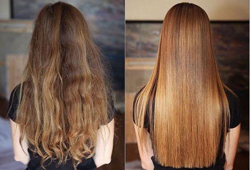 Волосы до и после каутеризации