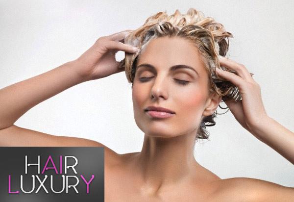 Мытье волос шампунем