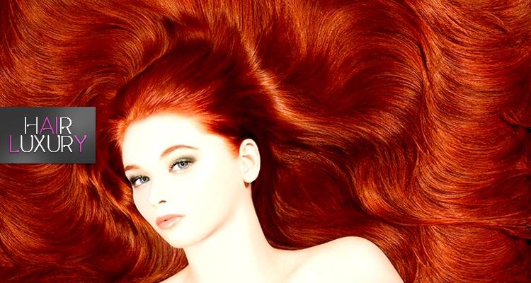 Колорирование волос рыжих оттенков