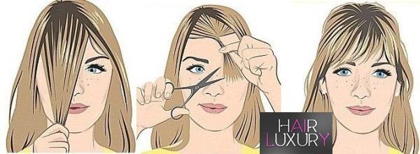 Как подстричь челку самостоятельно