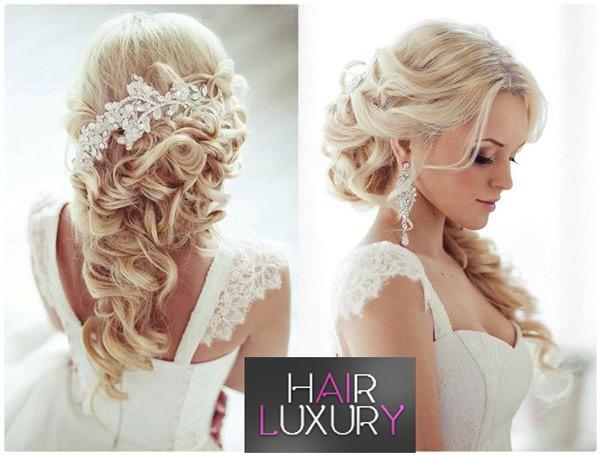 Причёска на свадьбу на длинные волосы для гостей