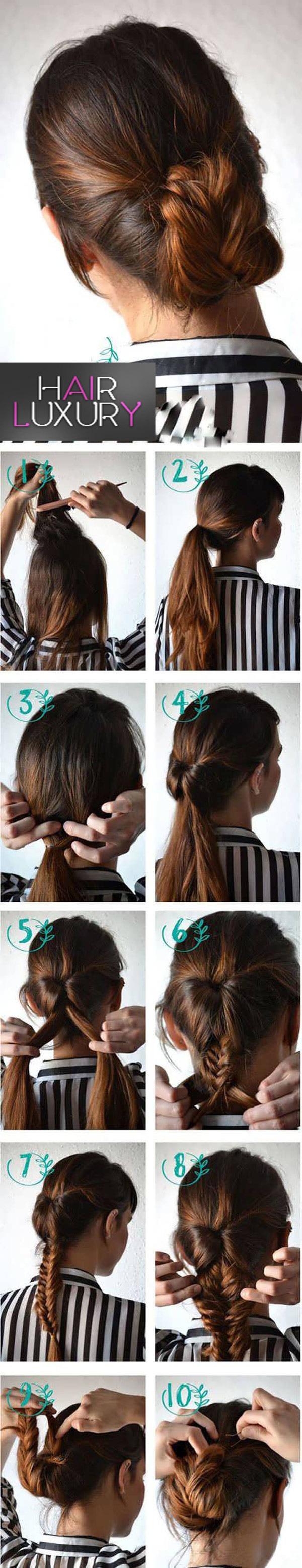 Простые прически на средние волосы