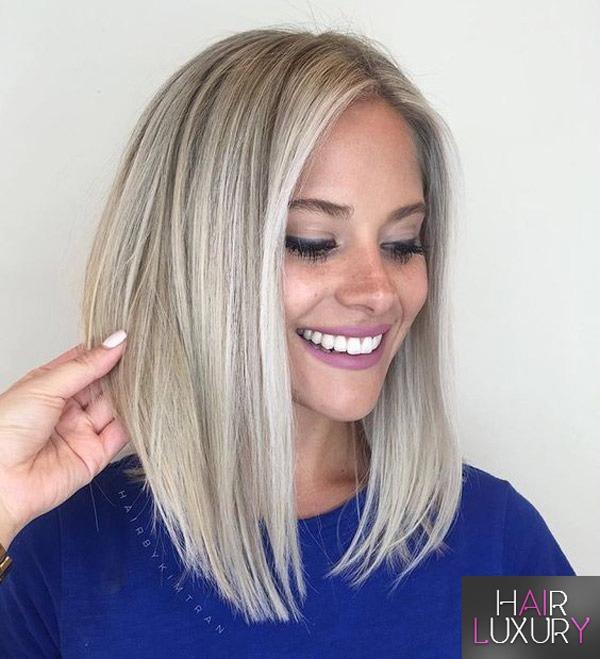 Удлиненное каре на длинные волосы