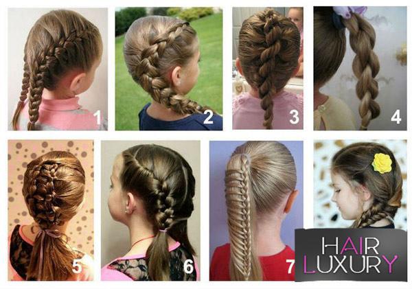 Прическа на короткие волосы для девочки