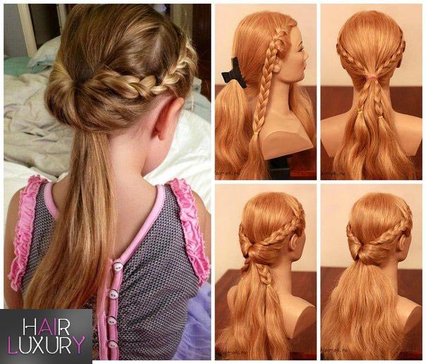 Детские прически: на длинные волосы