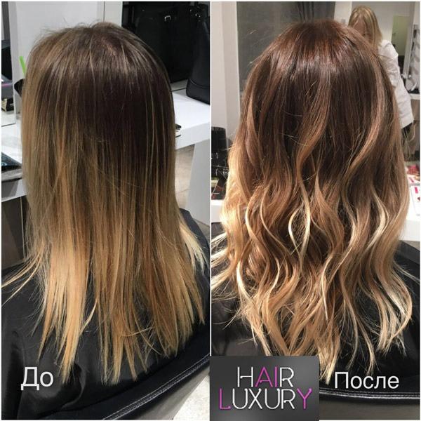 Брондирование на русые волосы: фото