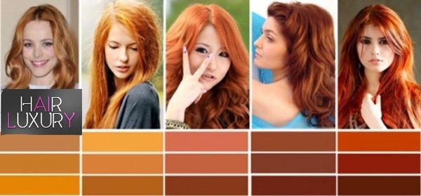 Рыжий цвет волос: фото оттенки кому идет до и после