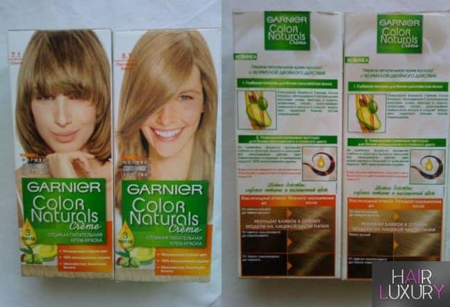 Краска для волос Гарньер Колор Нейчералс: палитра цветов, фото