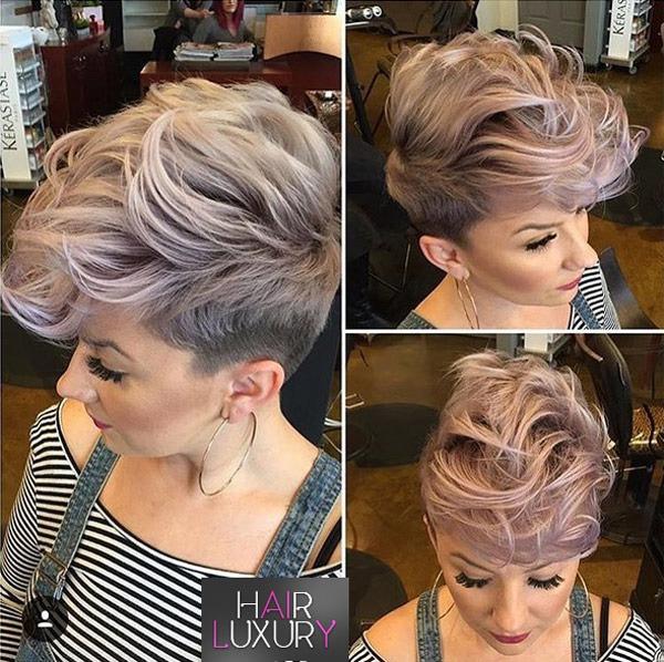 Модное окрашивание на короткие волосы