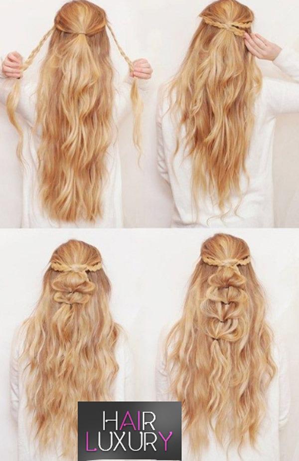 Прически вечерние: на длинные волосы