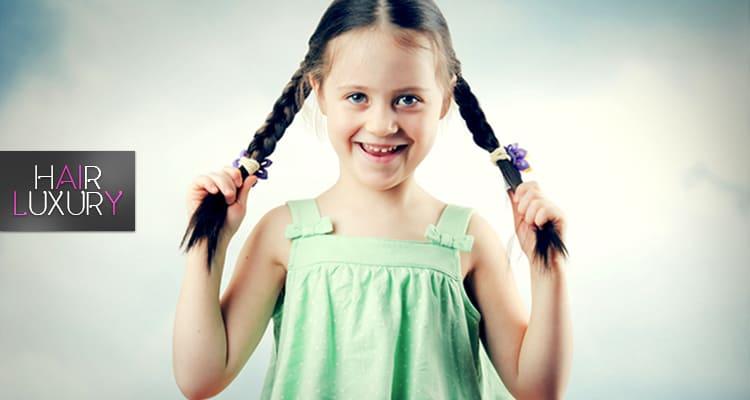 прическа для ребенка без слез