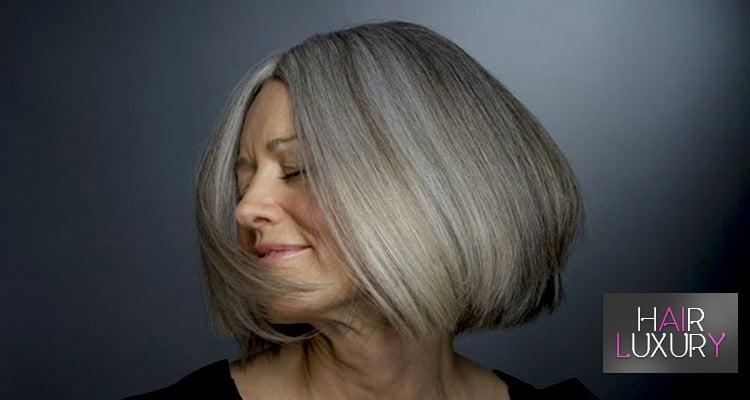 как окрашивать седые волосы
